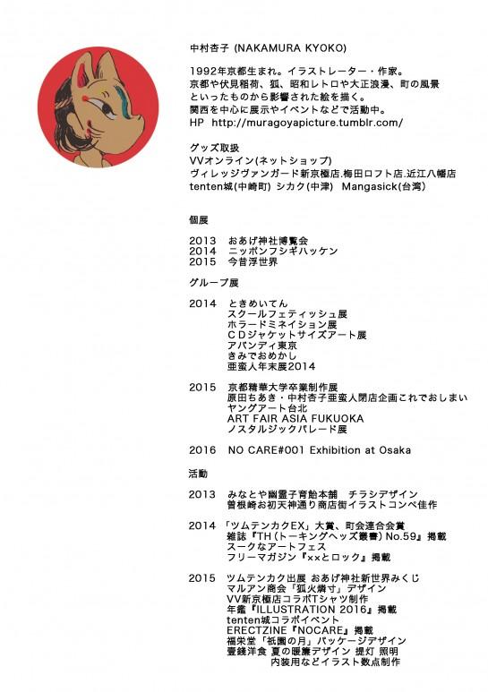 中村杏子さんプロフデータ